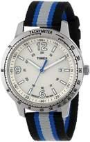 Timex Men's Weekender T2N754 Black Nylon Quartz Watch with Dial