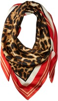 Vince Camuto Racing Leopard Square Scarf Scarves