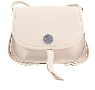 Pink Synthetic Leather Shoulder Bag w/Tassel