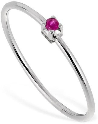 18kt White Gold & Ruby Ring