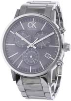 Calvin Klein Men's Post Minimal K7627161 Silver Stainless-Steel Quartz Watch with Dial