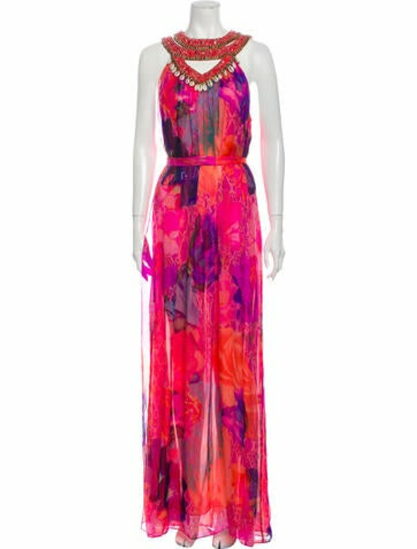 Matthew Williamson Silk Long Dress Pink