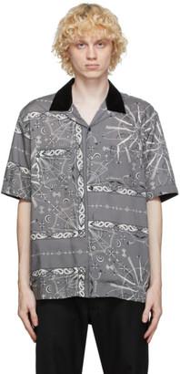 Sacai Grey Dr. Woo Edition Bandana Print Short Sleeve Shirt