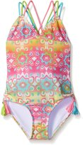 Kate Mack Big Girls Marrakesh Print One Piece Swimsuit