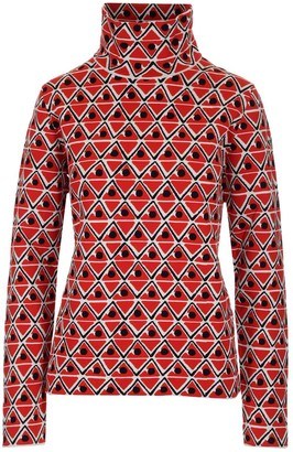 MONCLER GRENOBLE Geometric Print Knitted Top