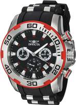 Invicta Men's 'Pro Diver' Quartz Stainless Steel and Silicone Casual Watch, Color:Two Tone (Model: 22307)