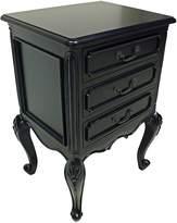Hudson Furniture Bedside Tables Classic Provence Bedside Table, Black