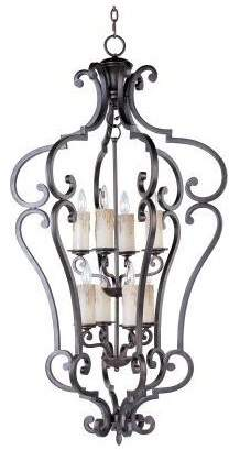 Richmond Maxim Lighting International 8-Light Entry Foyer Pendant, Colonial Umber