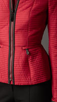 Burberry Peplum Detail Ribbed Quilt Jacket
