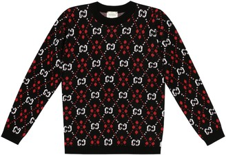 Gucci Kids GG cotton and wool sweater