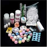 Nail Art Tools Kit Set, Kingfansion 22Acrylic Nail Art Tips Powder Liquid Brush Glitter Clipper Primer File Set Kit