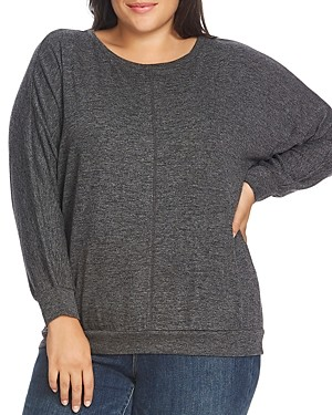 Vince Camuto Plus Dolman-Sleeve Cozy Sweater