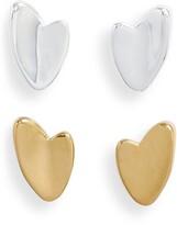 Jenny Bird Helena Varuna Set of 2 Heart Stud Earrings