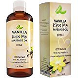 Honeydew Vanilla Erotic Massage Oil for Sex Edible Massage Oil and Lubricant for Sensual Massage and Natural Calm Aromatherapy Almond Jojoba and Coconut Oil Anti-Aging Moisturizing Skin Care & Back Pain Relief