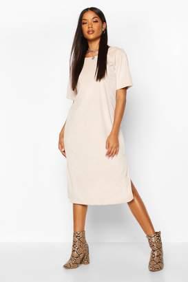 boohoo Cord Cap Sleeve Midi Dress