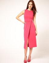 ASOS Midi Pencil Dress With Wrap Skirt