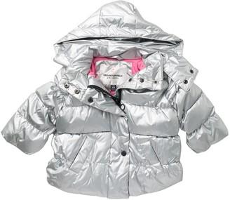 Urban Republic Metallic Hooded Puffer Jacket (Baby Girls 12-24M)