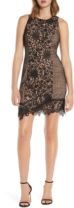 Adelyn Rae Alessia Lace Cocktail Sheath Dress
