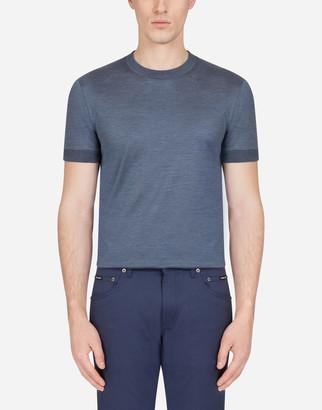 Dolce & Gabbana Silk Jersey T-Shirt