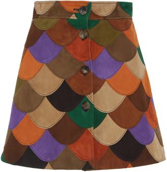 Miu Miu Scalloped Patchwork Skirt
