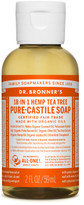 Dr. Bronner's Liquid Castile Soap 59ml - Tea Tree