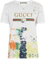 Gucci Logo-print tie-dye cotton T-shirt
