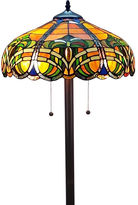 AMORA Amora Lighting AM1072FL16 Tiffany Style 2-light Baroque Floor Lamp