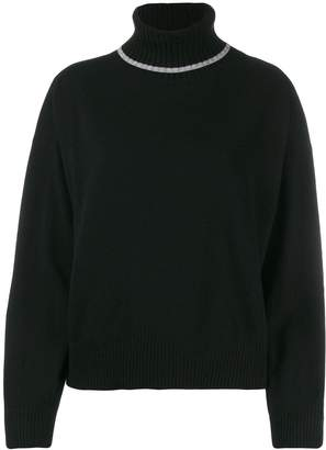 Semi-Couture Semicouture relaxed-fit turtleneck jumper