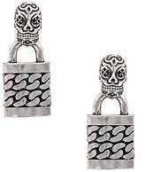 Nicole Miller Skull Punk Lock Earrings