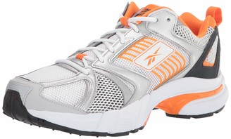 Reebok unisex-adult PREMIER Sneaker White/Matte silver/high Ghvis Orange 9 medium US