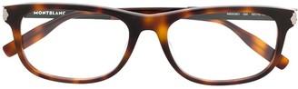 Montblanc Rectangular Frame Glasses
