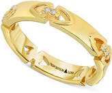 Proposition Love Women's Diamond Accent Triangle Motif Ring in 14k Gold