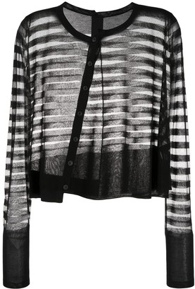 Rundholz Striped Sheer Cardigan