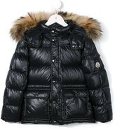 Moncler 'Hubet' padded jacket - kids - Feather Down/Polyamide/Racoon Fur - 5 yrs