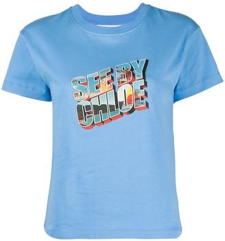 See by Chloe graphic logo print T-shirt