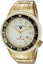 Swiss Legend Men's 21819D-YG-22-BLK Neptune Analog Display Swiss Quartz Gold Watch