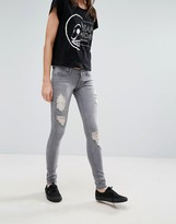 Cheap Monday Slim Destroyed Thighs Jeans