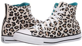 Converse Chuck Taylor All Star Leopard Print - Hi (Driftwood/Black/Light Fawn) Athletic Shoes