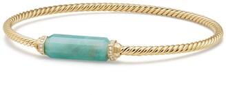 David Yurman Barrels Bracelet with Diamonds in 18K Gold
