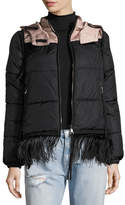 No.21 No. 21 Patri Puffer Jacket w/ Feather Trim