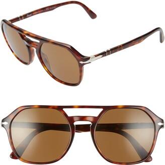 Persol 54mm Polarized Aviator Sunglasses