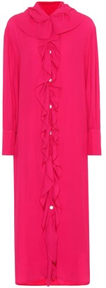 Marni Crepe midi shirt dress
