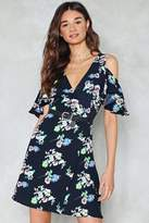 Nasty Gal Flora and Fauna Cold Shoulder Dress