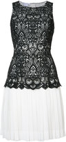 Oscar de la Renta short pleated dress - women - Silk/Polyester - 2