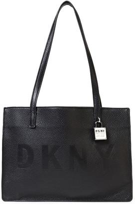 DKNY Commuter Medium Embossed Pebbled-leather Tote