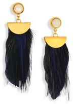 Lizzie Fortunato Parrot Mother-Of-Pearl Feather Earrings