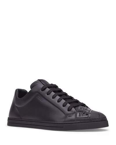 ca9868e248 Men's Embossed Logo Tonal Leather Sneakers