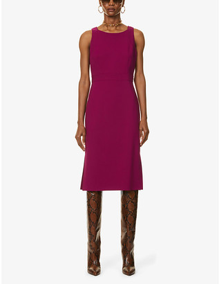 Max Mara Norcia sleeveless stretch-wool midi dress