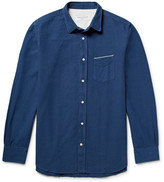 Officine Generale Slim-Fit Selvedge-Trimmed Cotton Oxford Shirt