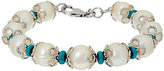 Honora Cultured Pearl 11.0mm and Turquoise Bronze Bracelet